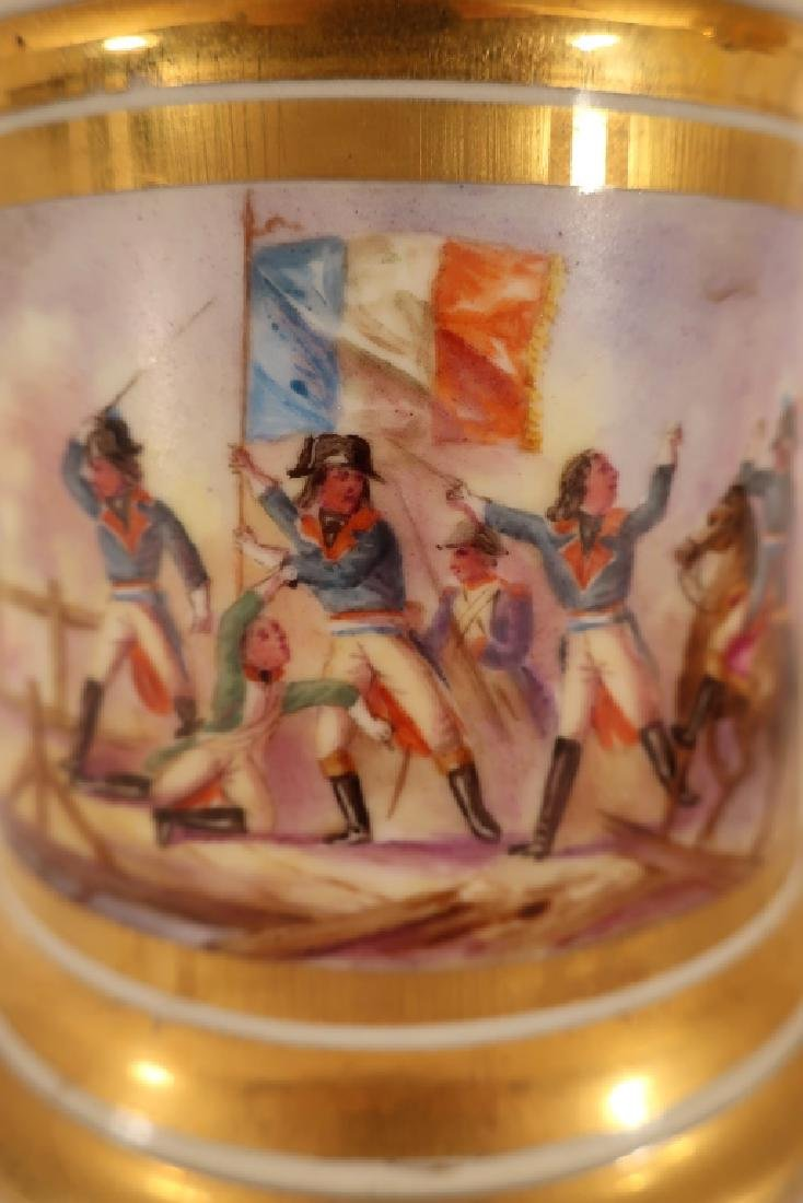 Napoleonic hand painted teapot with stand - 8