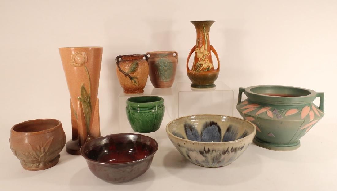 8 Pieces of  Art Pottery Weller,etc.