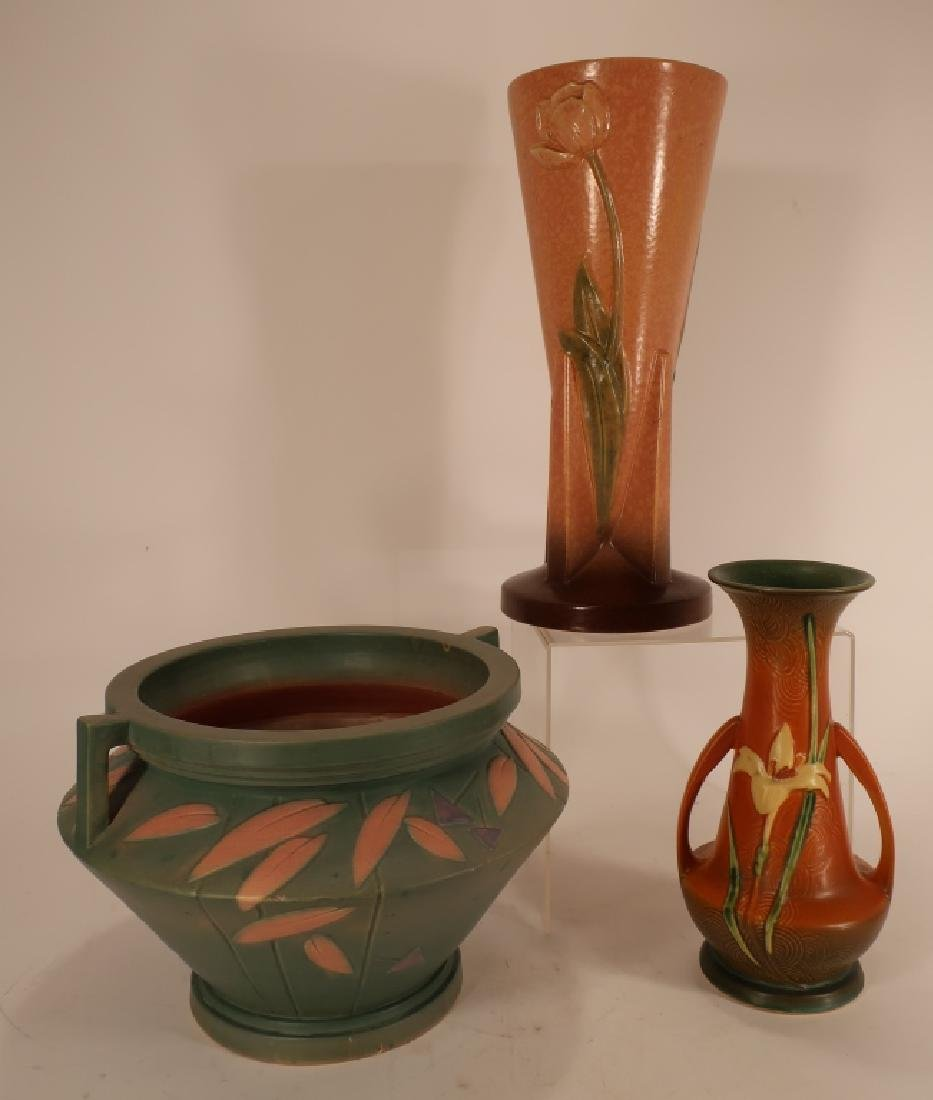 8 Pieces of  Art Pottery Weller,etc. - 3