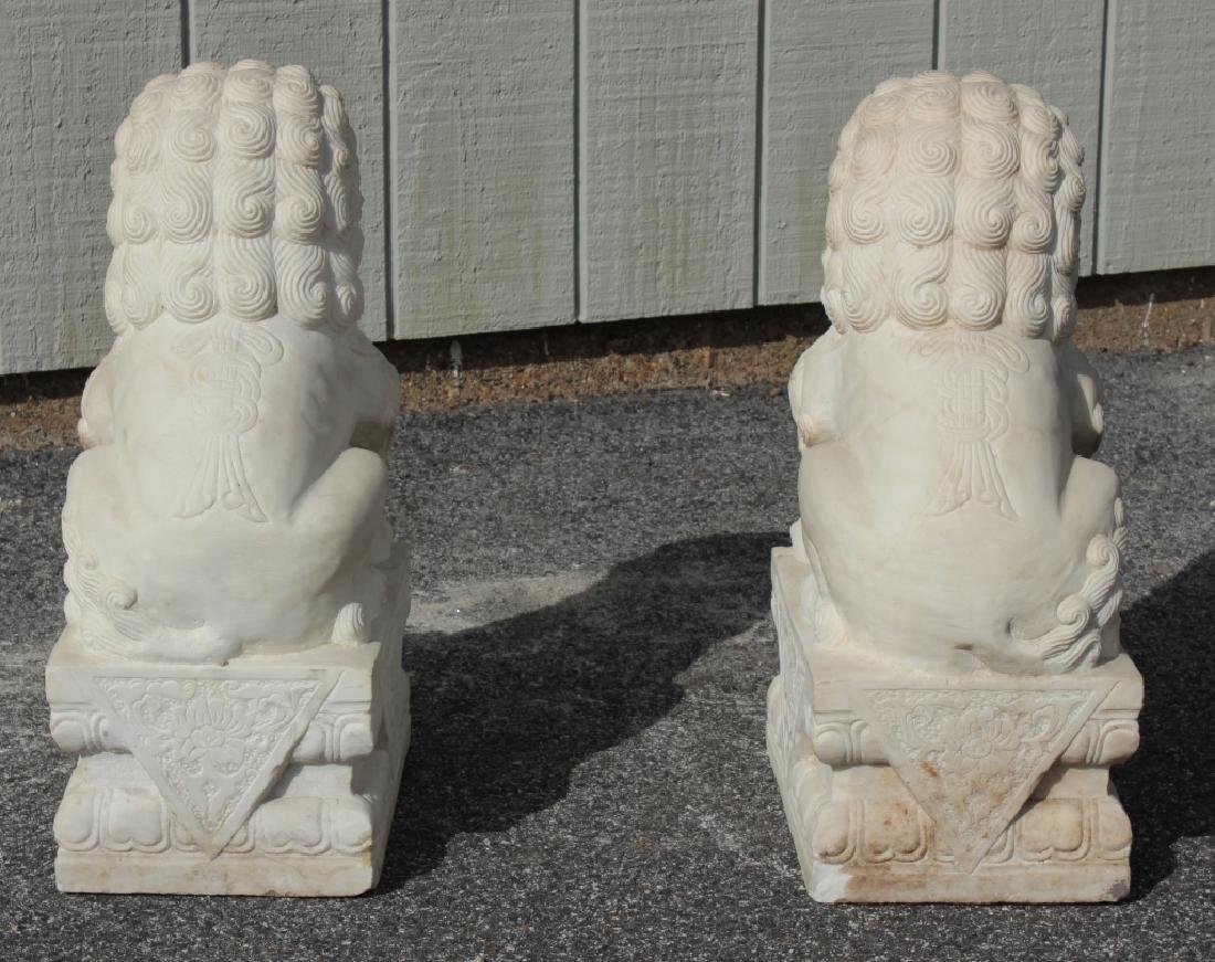 Pair of Marble Foo Dogs - 6