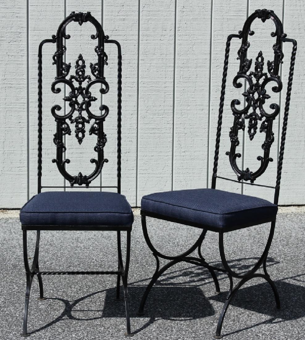 Victorian Style Painted Cast Iron Table/Chairs - 2