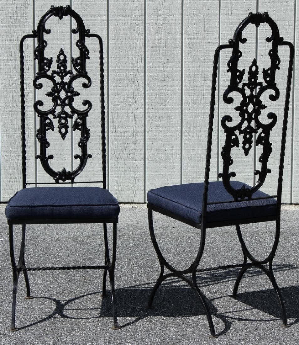 Victorian Style Painted Cast Iron Table/Chairs - 3