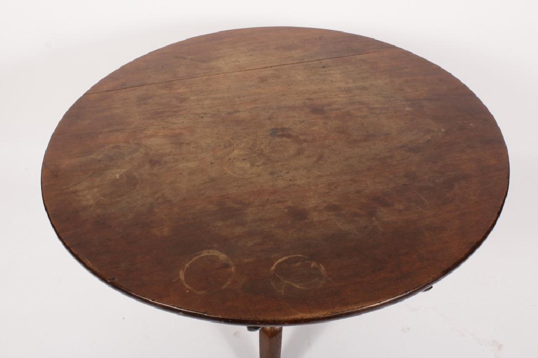 18th C. Round Mahogany Tripod Table - 2