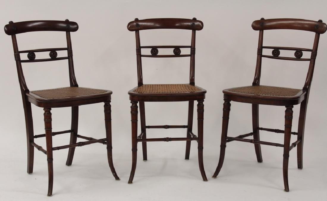 6 Victorian Mahogany Wood and Caned Side Chairs - 2