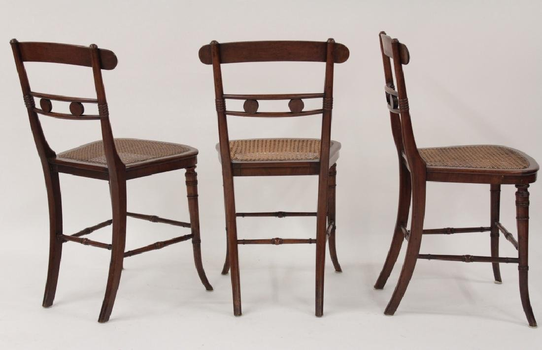 6 Victorian Mahogany Wood and Caned Side Chairs - 3