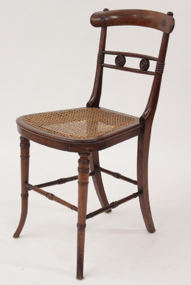 6 Victorian Mahogany Wood and Caned Side Chairs - 4