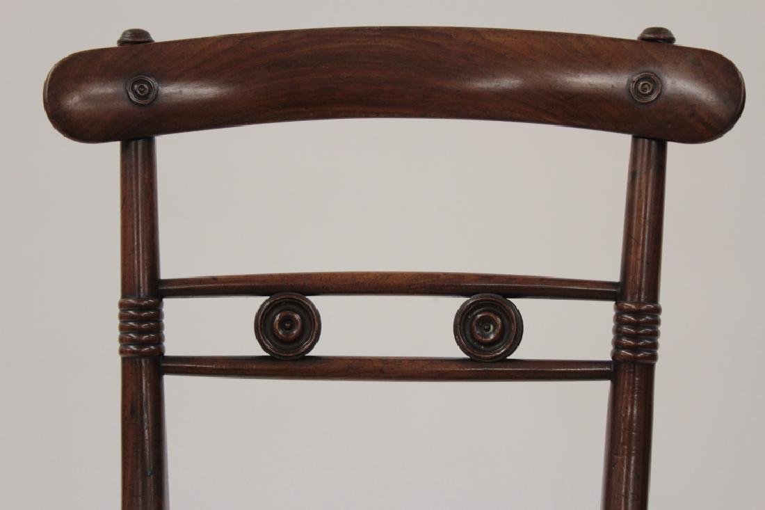 6 Victorian Mahogany Wood and Caned Side Chairs - 5