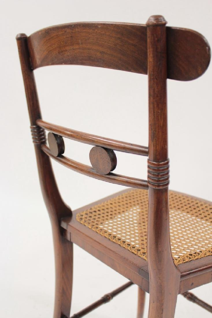 6 Victorian Mahogany Wood and Caned Side Chairs - 6