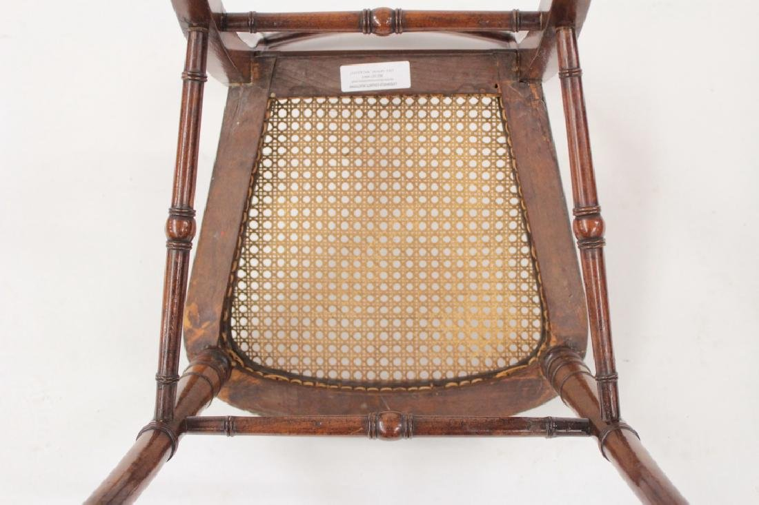 6 Victorian Mahogany Wood and Caned Side Chairs - 7