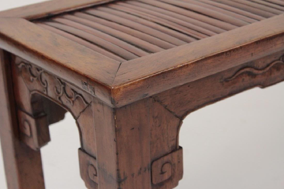 Chinese Barber Bench with Carved Bench,20th - 3