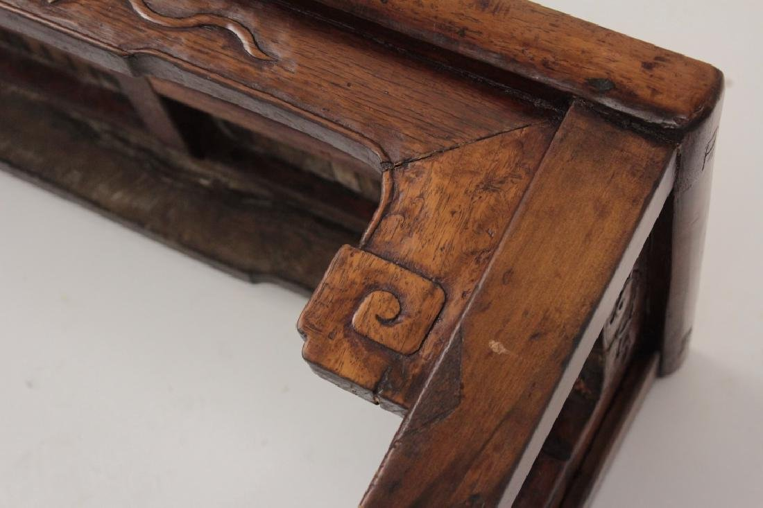 Chinese Barber Bench with Carved Bench,20th - 7