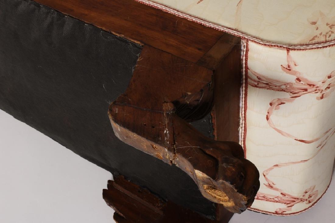 Late Empire Mahogany Carved/Upholstered Sofa - 9