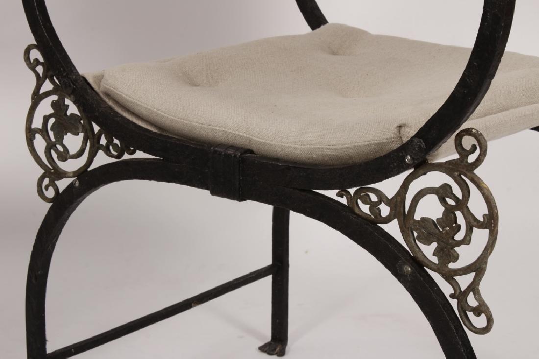 Pr. of Oscar Bach Bronze/ Iron Throne Arm Chairs - 3