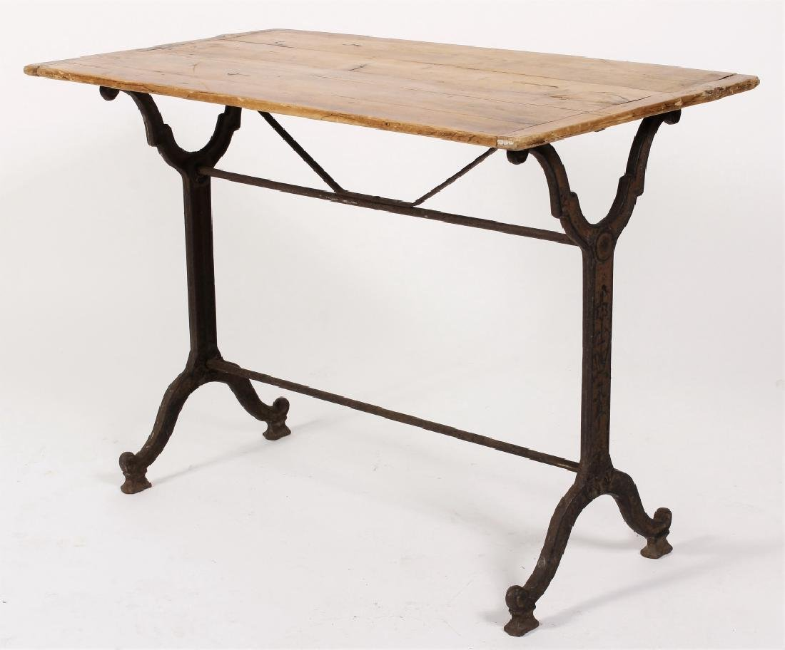 French Cast Iron/Wood Table