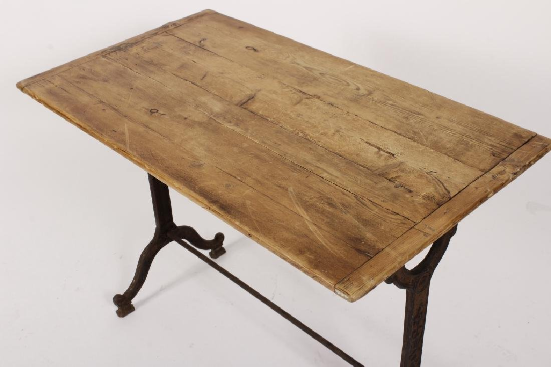French Cast Iron/Wood Table - 2