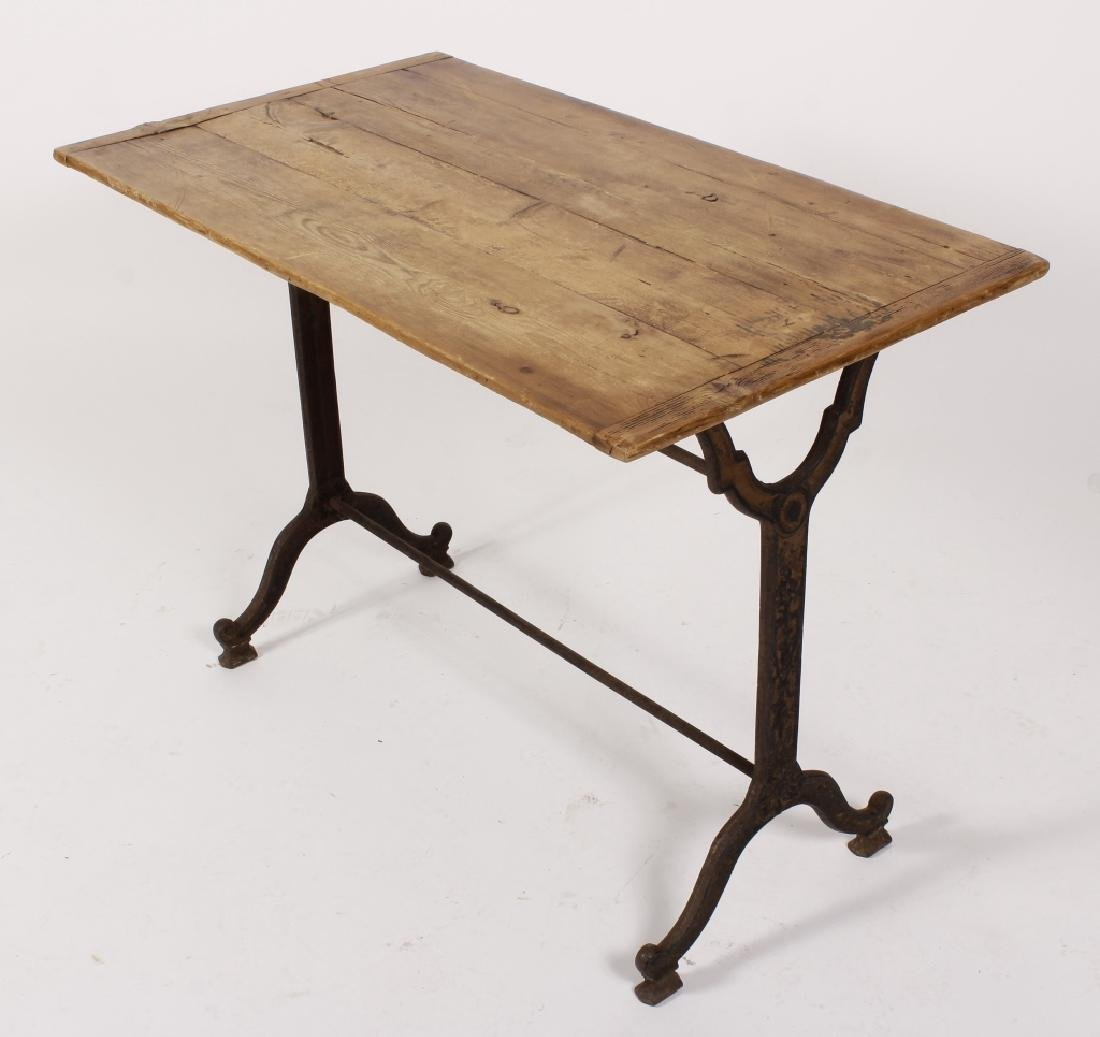French Cast Iron/Wood Table - 5