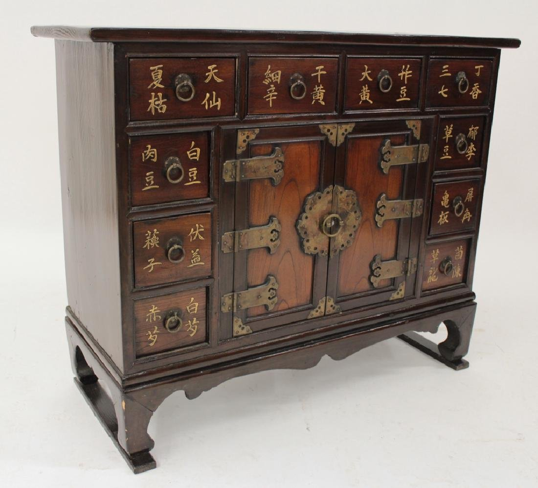 Chinese Apothecary Wood Stained/Painted Cabinet - 2