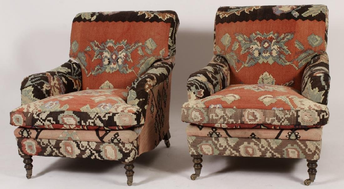 Pr George Smith Besarabian Kilim Armchairs