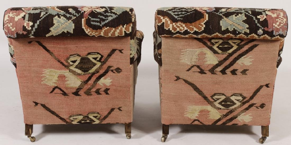 Pr George Smith Besarabian Kilim Armchairs - 3