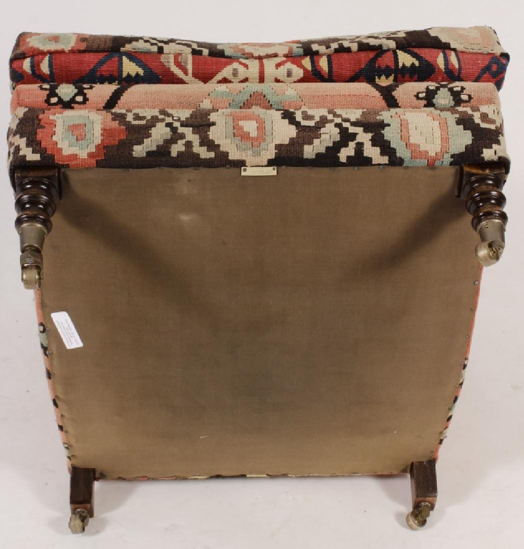 Pr George Smith Besarabian Kilim Armchairs - 6