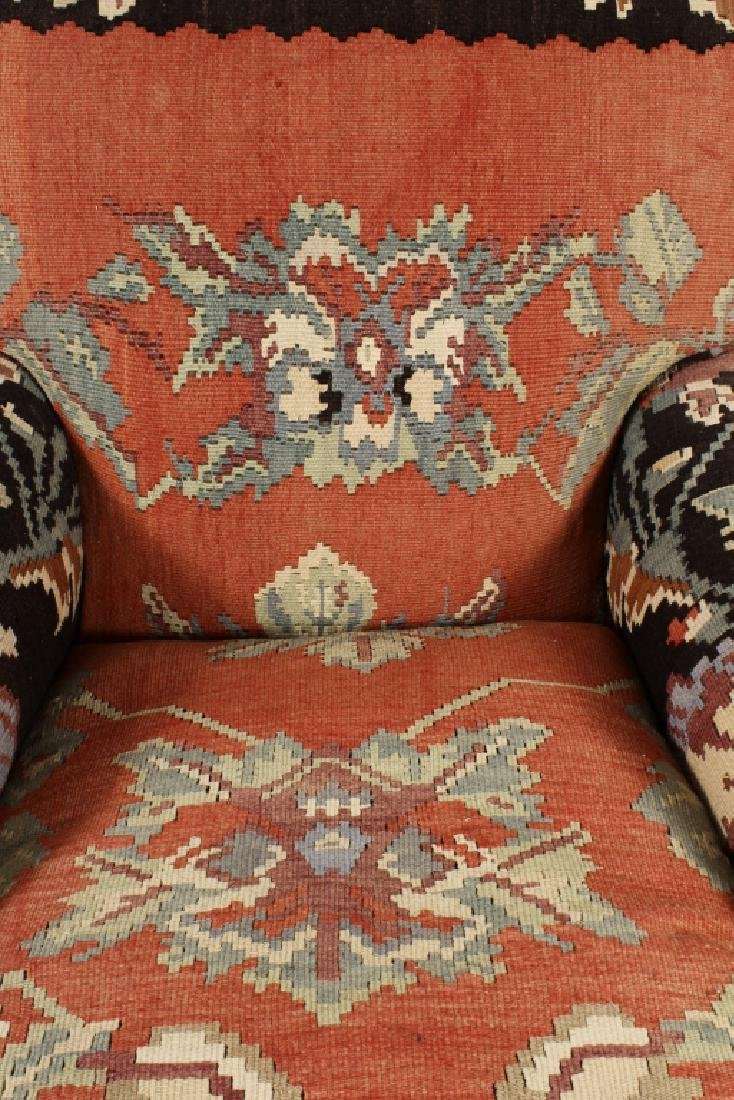 Pr George Smith Besarabian Kilim Armchairs - 7