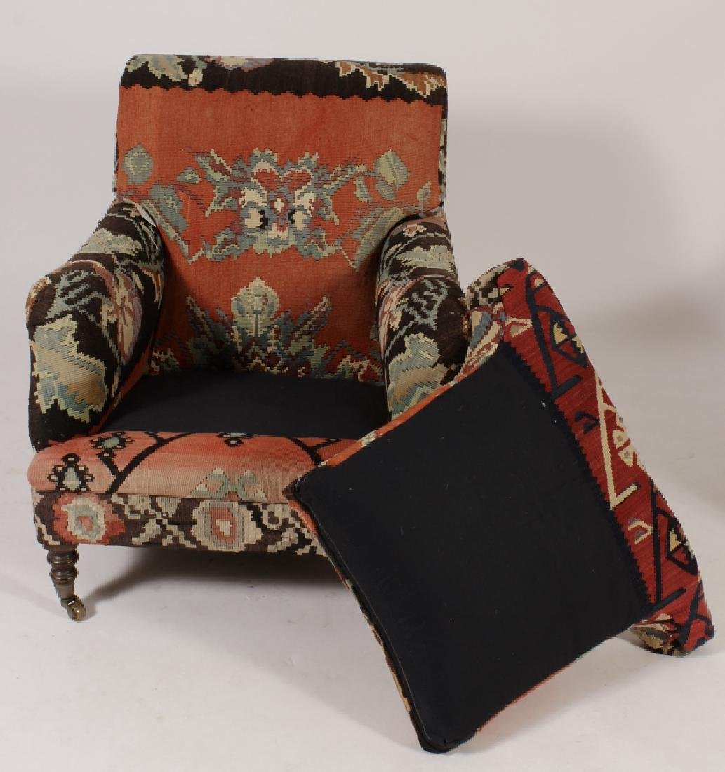 Pr George Smith Besarabian Kilim Armchairs - 8