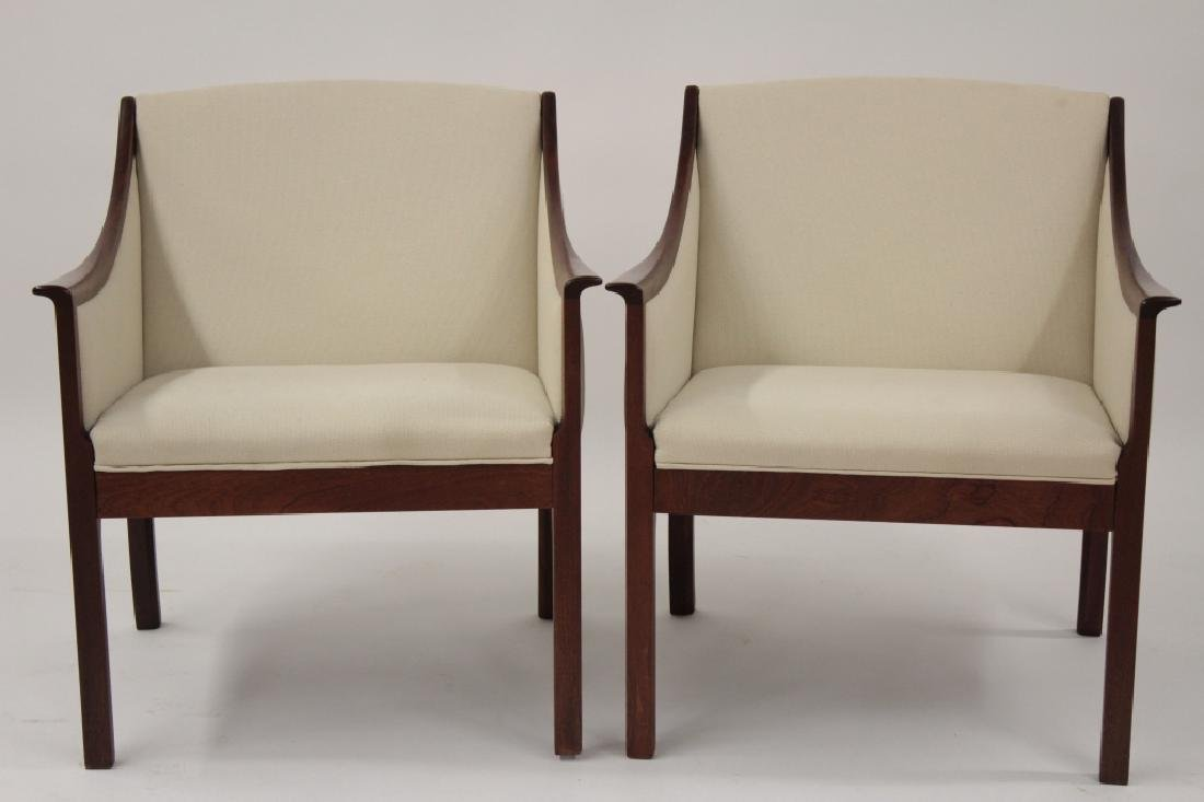 Pair of Ole Wanscher Armchairs for A.J. Iverson
