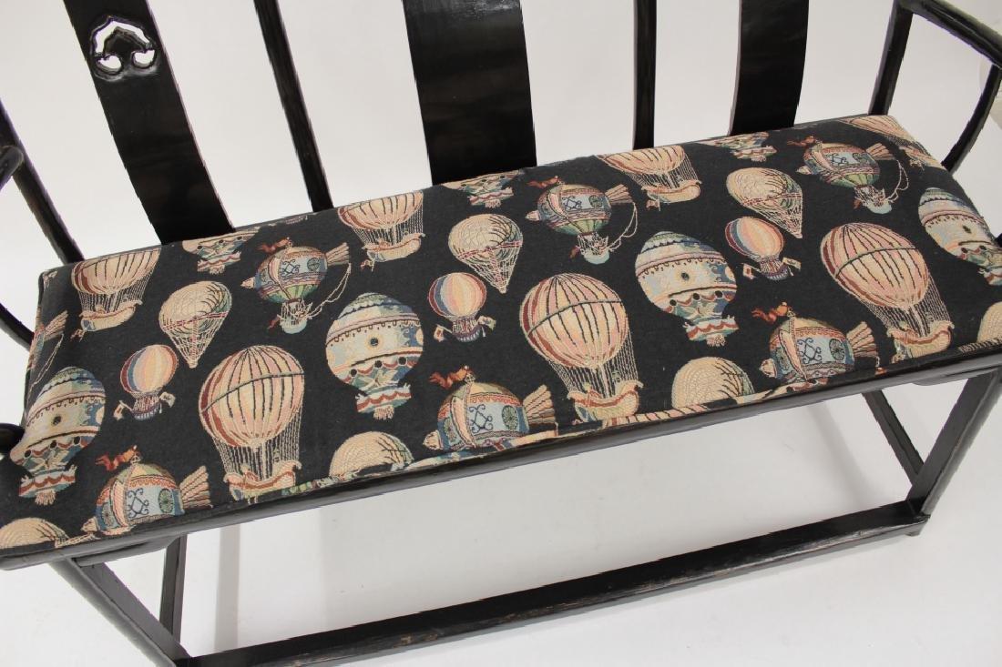 Chinese Ming Style Yoke Back 3 Seat Settee - 3