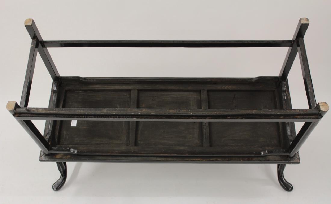 Chinese Ming Style Yoke Back 3 Seat Settee - 7