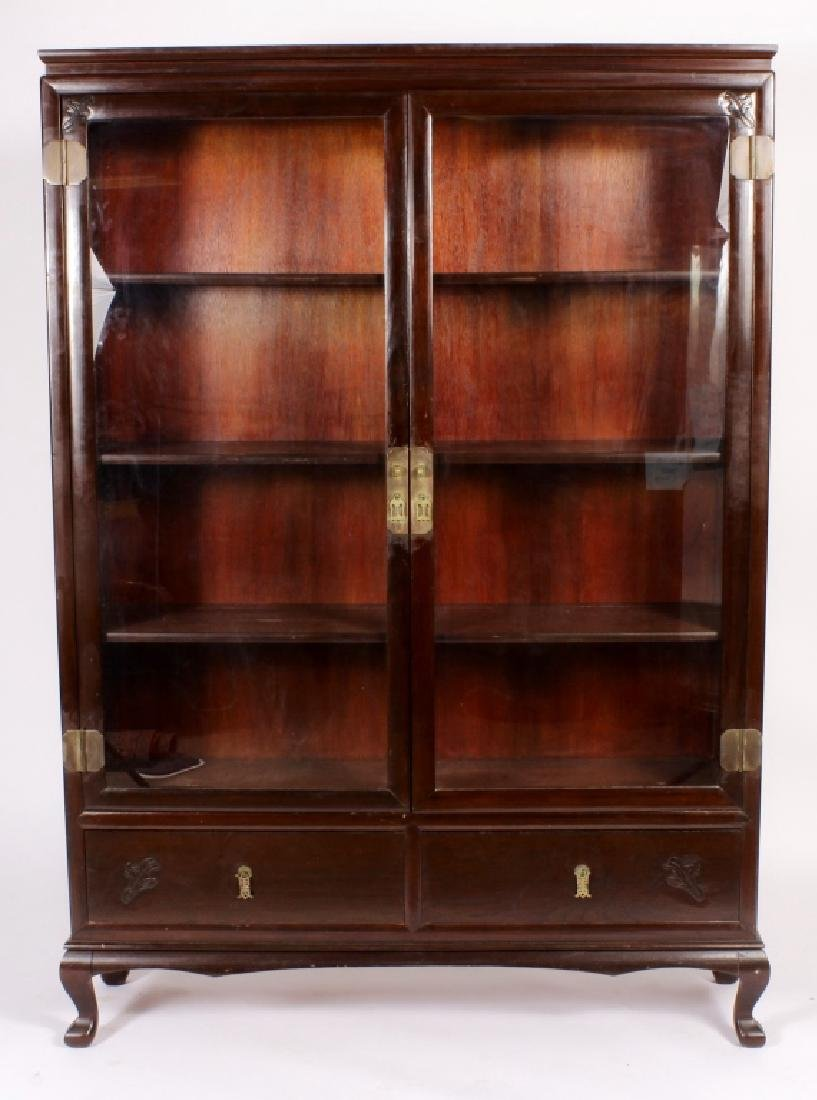 Chinese-Style Hardwood 2-Door Cabinet, 20th c.