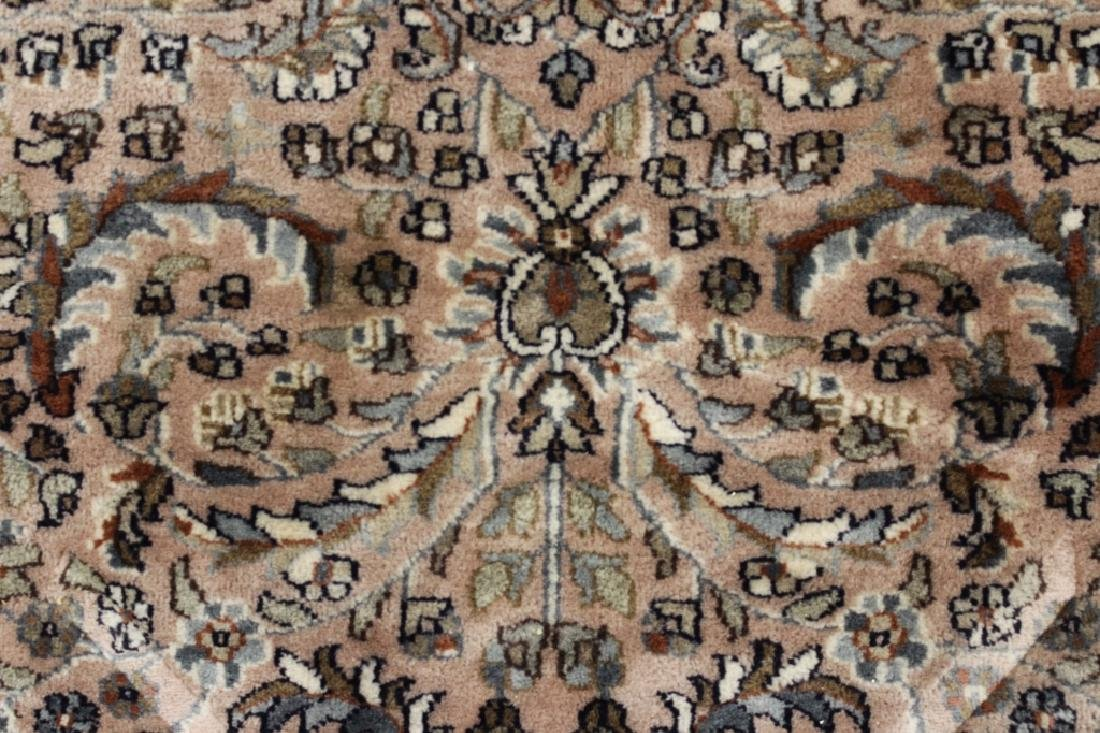 Pakistan Rug Mauve Ground Leaf & Scroll Motif