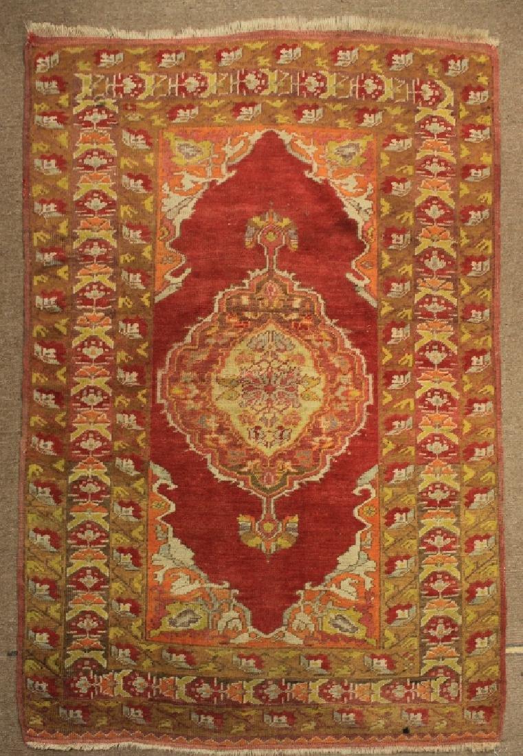 Tribal Ushak Wool Rug - 2