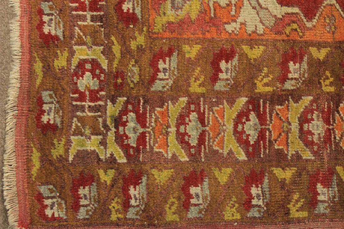 Tribal Ushak Wool Rug - 5