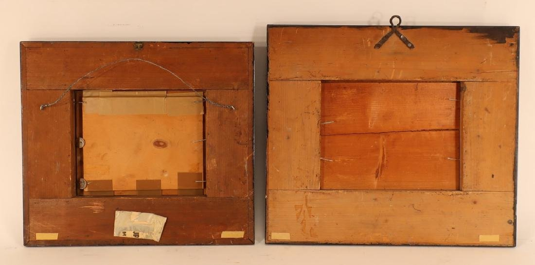 Pair of Dutch Style Ripple Frames w O/B paintings - 6