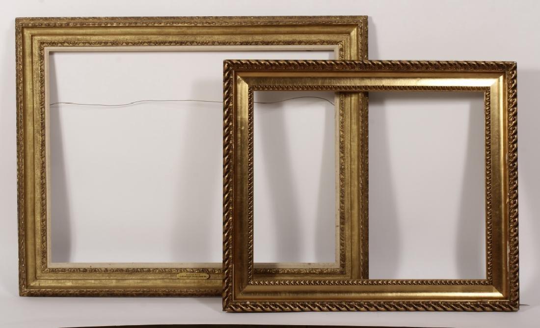 2 Large Classical Motif Gilt Wood Frames,20th C.