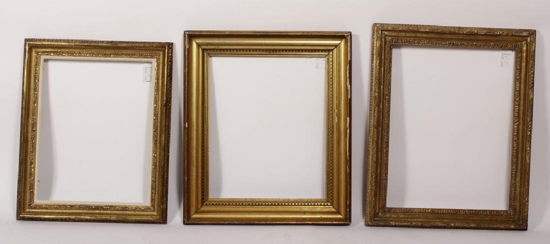5 Carved Gilt Wood Frames, E.-Mid 20th C. - 4
