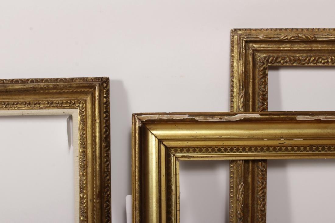 5 Carved Gilt Wood Frames, E.-Mid 20th C. - 5