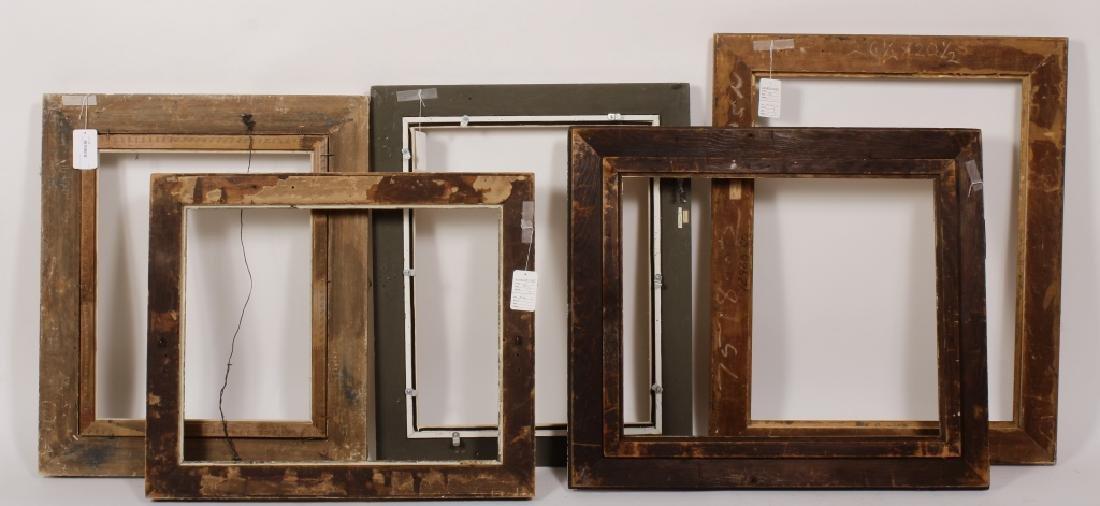 5 Carved Gilt Wood Frames, E.-Mid 20th C. - 6