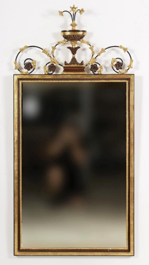 Louis XVI Style Rectangular Beveled Mirror