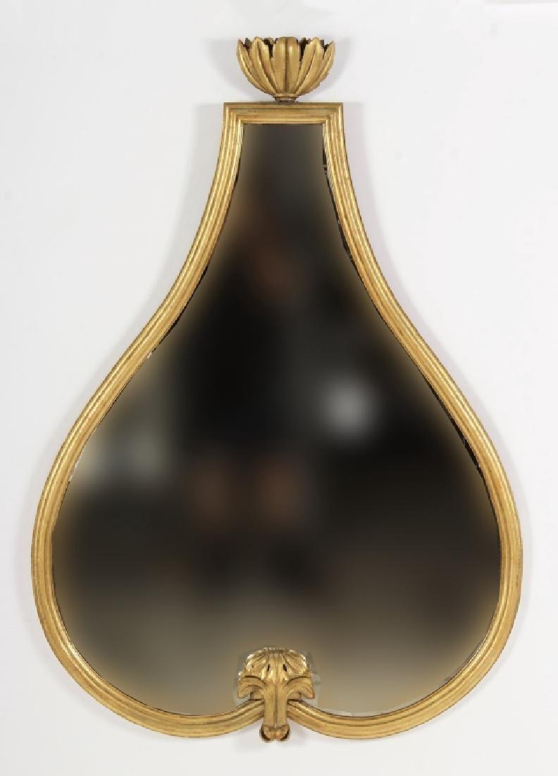 Large Italian Gilt Wood Mirror,20th C.