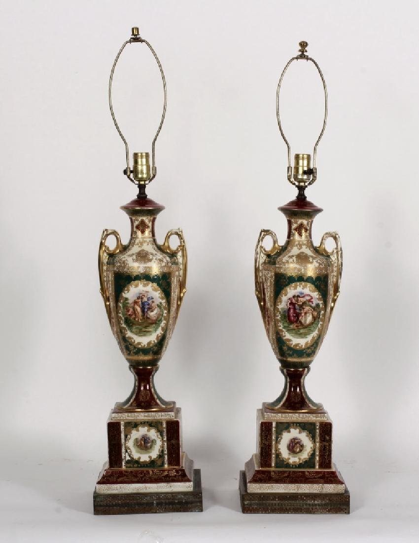 Pr. Royal Vienna-Style Lamps after A. Kauffman