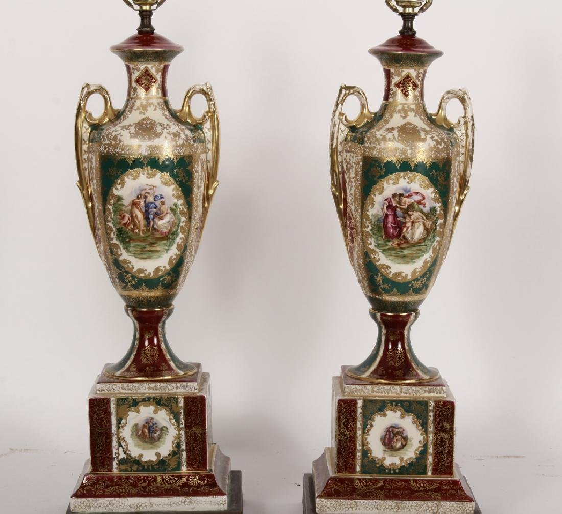 Pr. Royal Vienna-Style Lamps after A. Kauffman - 2