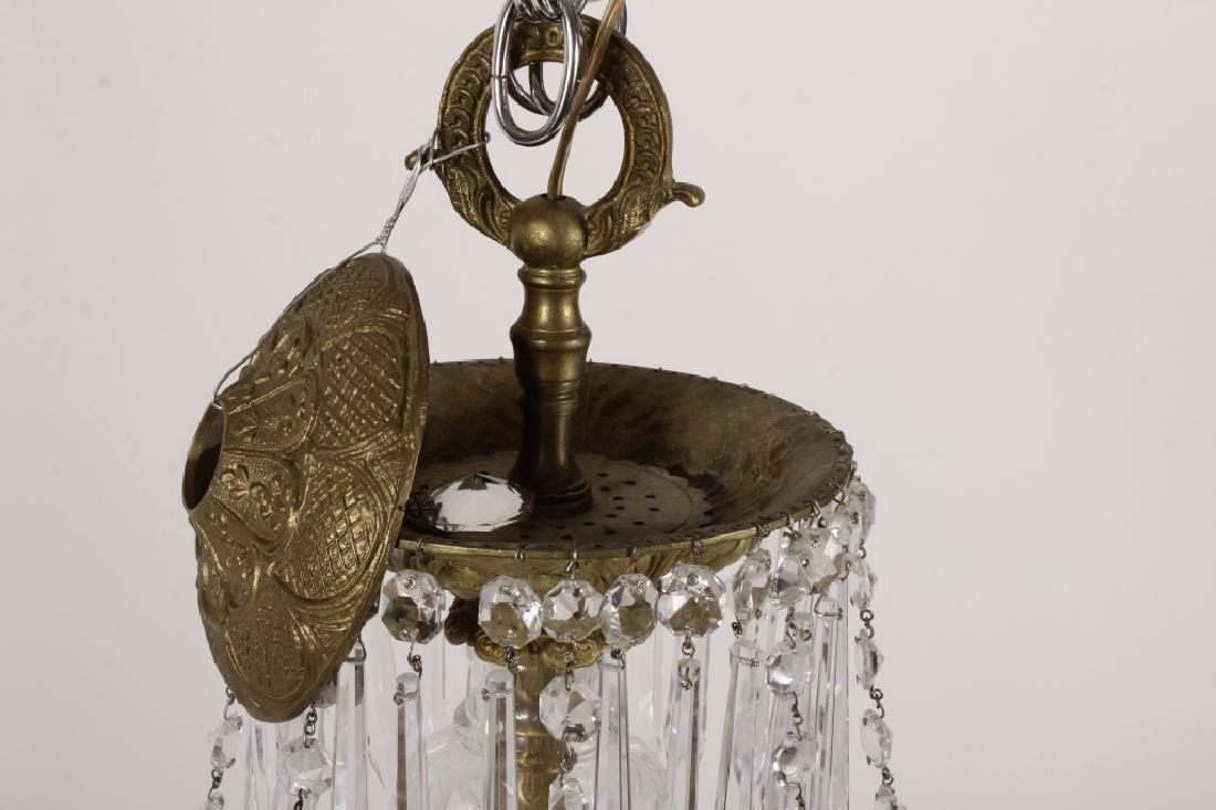 English Style Crystal/Brass 8 Light Chandelier - 2