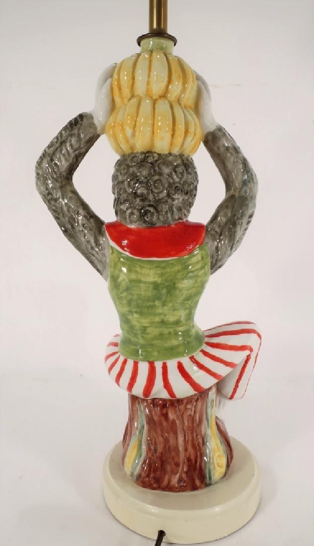 Italian Ceramic Monkey Table Lamp 20th C. - 3