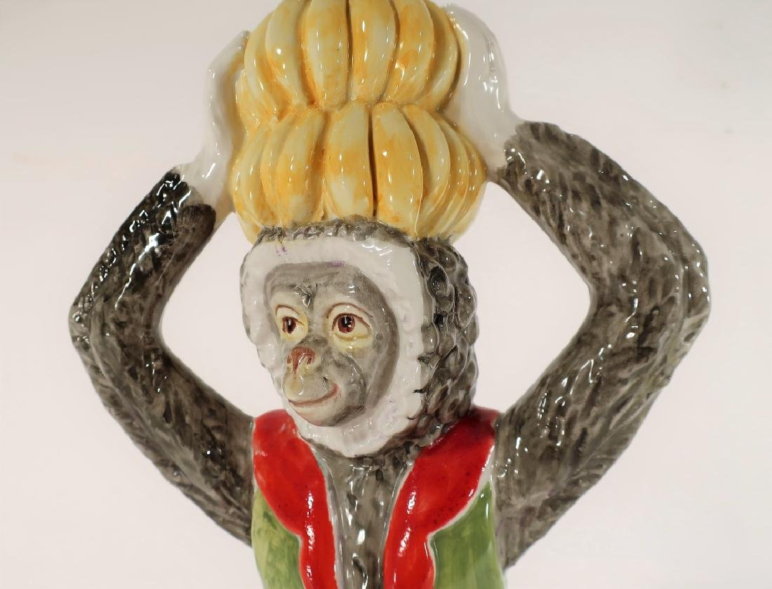 Italian Ceramic Monkey Table Lamp 20th C. - 4