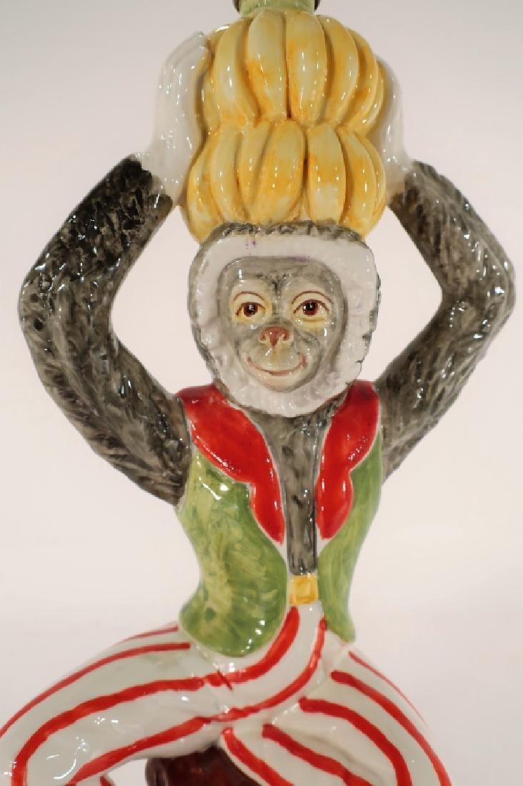 Italian Ceramic Monkey Table Lamp 20th C. - 5