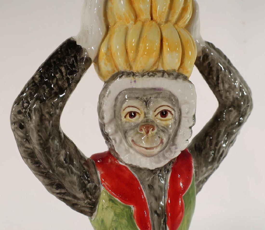 Italian Ceramic Monkey Table Lamp 20th C. - 6