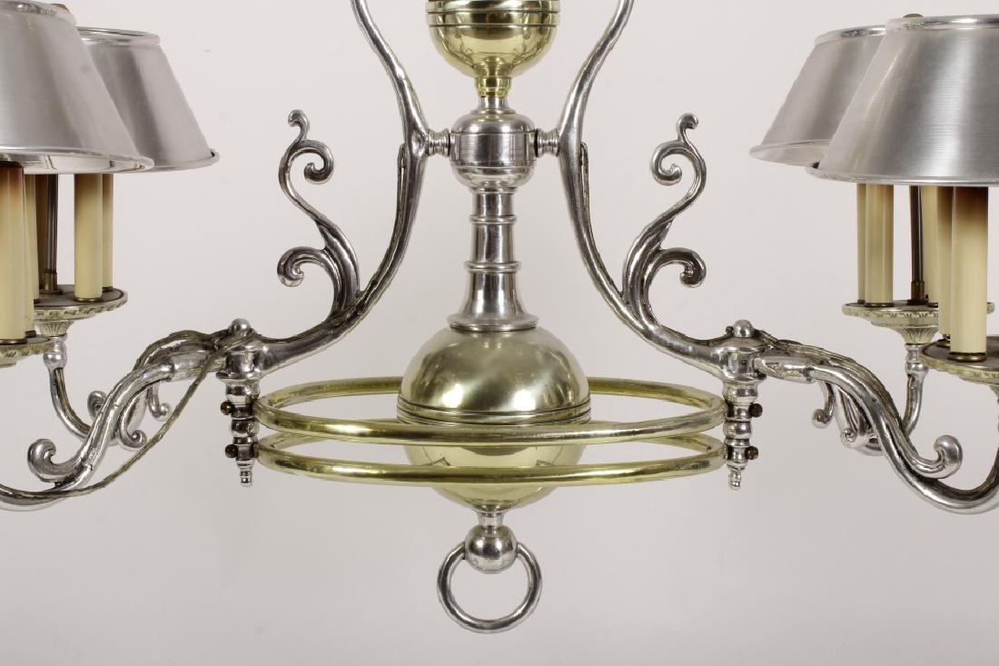 Georgian Bouillotte Style Pendant Lighting Fixture - 4