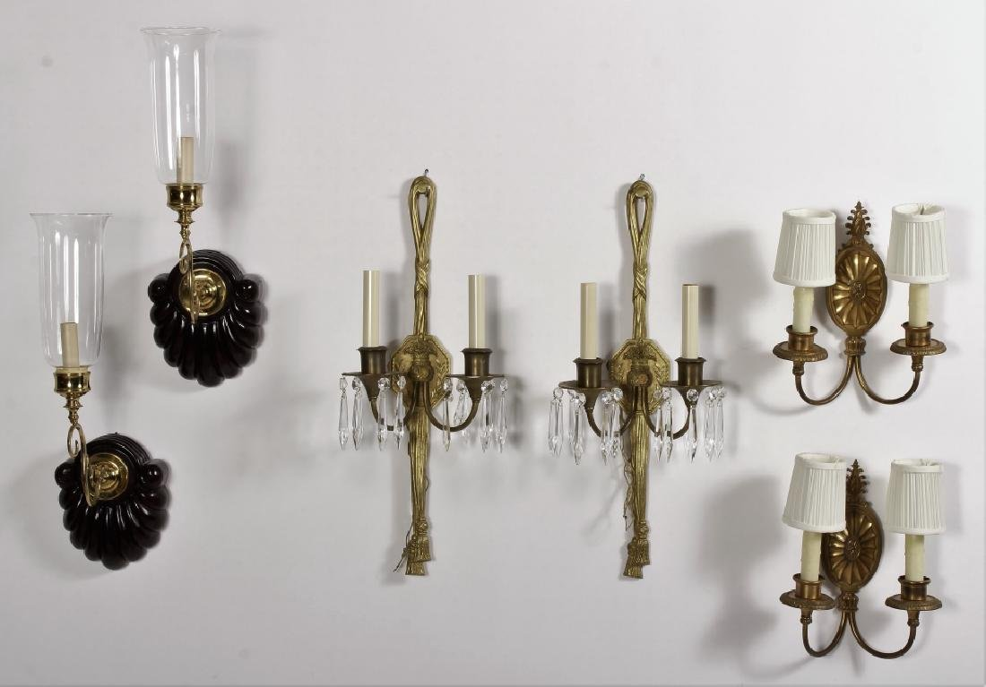 3 Prs. of European Style Wall Sconces
