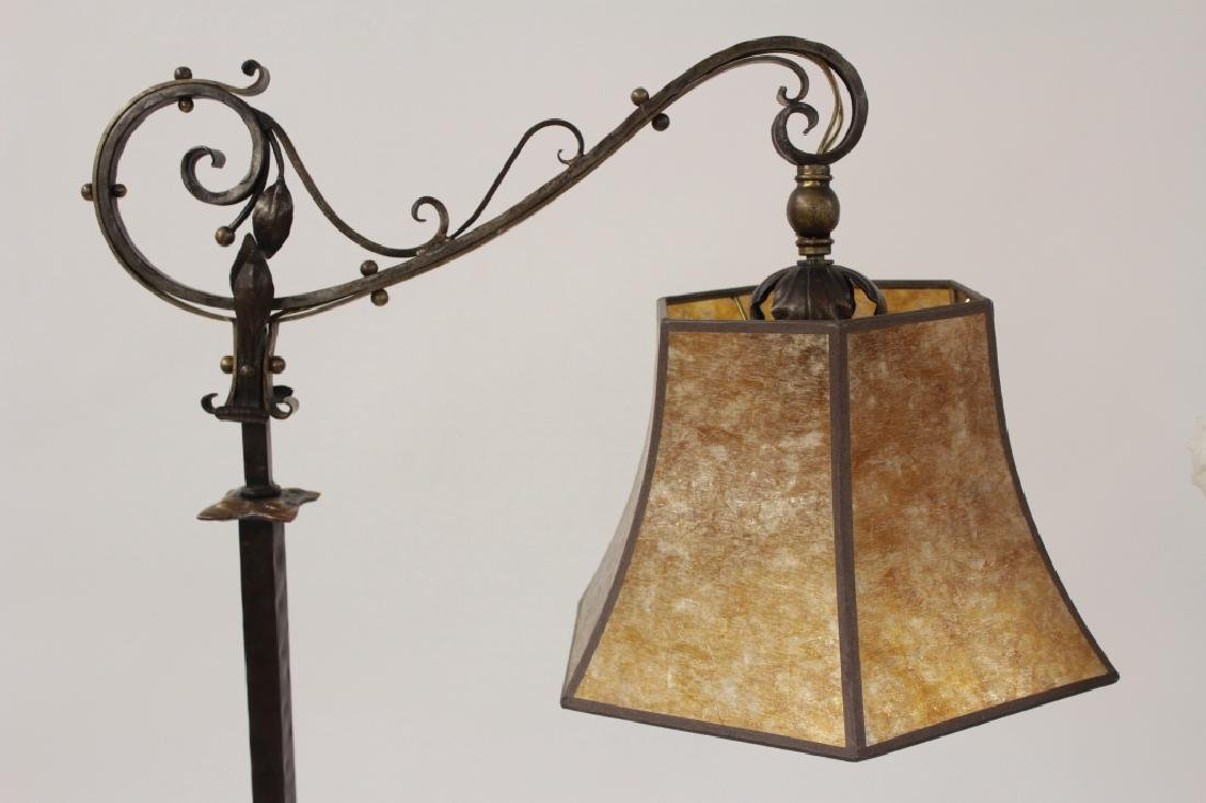 2 Metal Standing Reading Lamps,20th C. - 2